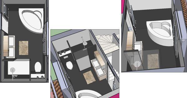 Une salle de bain de 7m avec douche l 39 italienne et for Carreler une salle de bain avec baignoire