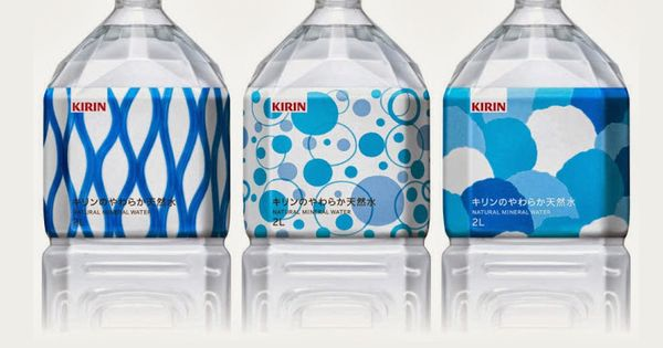 Kirin Natural Mineral Water / Designed by SAGA Inc, Japan. beautiful blue