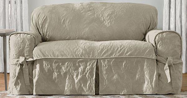 Cottage Shabby Chic Slipcover Upholstery Pinterest