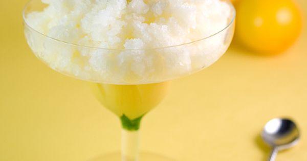 Meyer Lemon Mint Granita | Recipe | Food photography ...