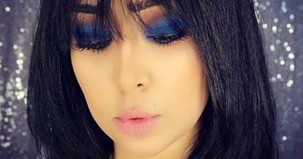 Dramatic Blue Smokey Eye Makeup Tutorial عيون سموكي أزرق بطريقة سهله Choker Necklace Nose Ring Chokers