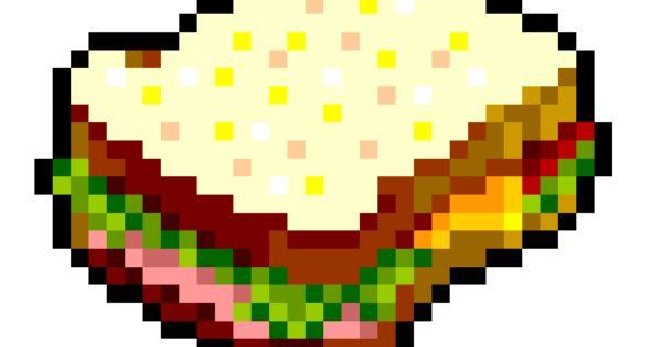 Sandwich Pixel Art Food Pixel Drawing Pixel Art Tutorial