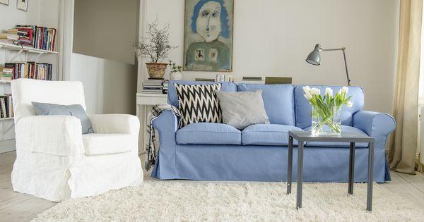 Ektorp 3 seater sofa cover white cushion covers white - Funda sofa ikea ...