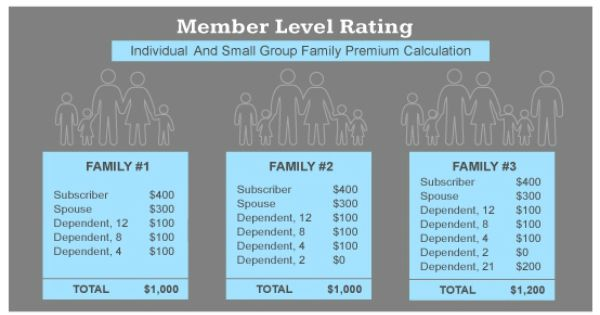 Member Level Rating Individual And Small Group Family Premium