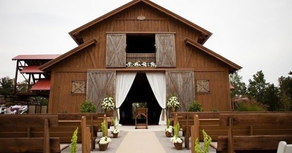 Barn Wedding Curtains Closed For Ceremony And Open Up For