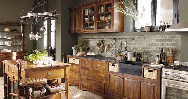 Maisons du monde cucina classica lub ron arredica kitchens pinterest cucina cucine e - Interni casa classica ...