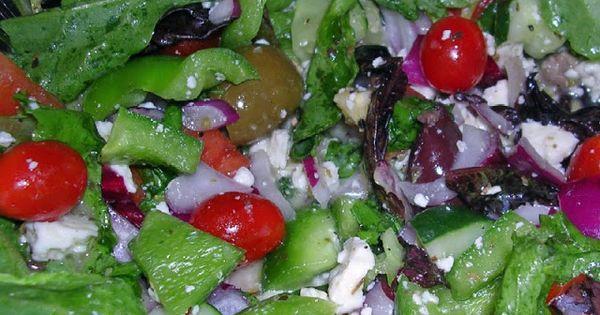 Greek Salad Dressing with Fresh Herbs & Feta | Recipes | Pinterest ...