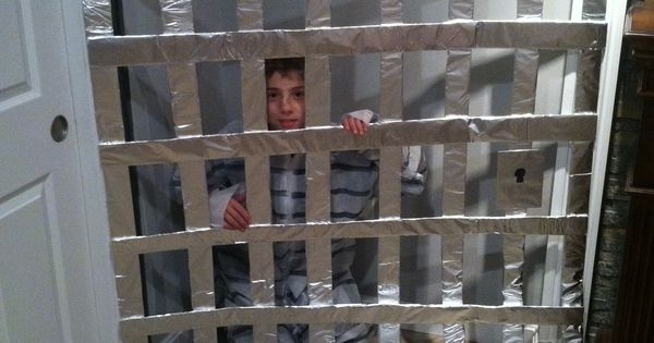 Home Made Jail Cell N Prisoner Outfit For Trick Or Trunk
