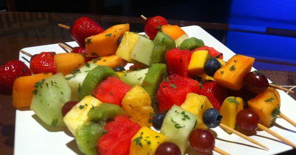 Joy behar, Fruit kebabs and Food styling on Pinterest