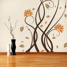 Vinilos Decorativos Paredes Flores Multicolor Vinilos Decorativos Pared Arte De Pared De Vinilo Decoracion De Cristal