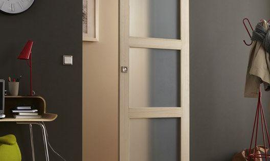 76 porte coulissante paulownia plaqu bowen 204 x 73 cm - Porte coulissante 73 cm castorama ...