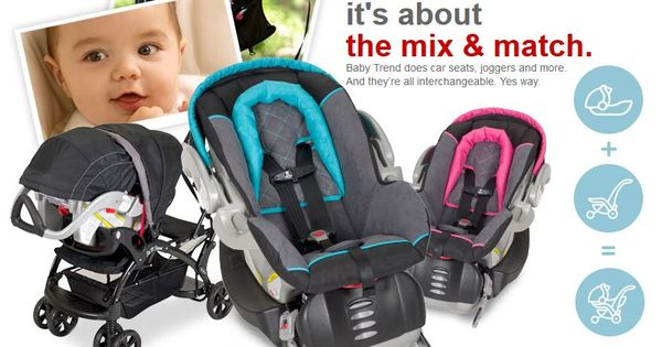 Mix And Match Strollers And Car Seats With Baby Trend At