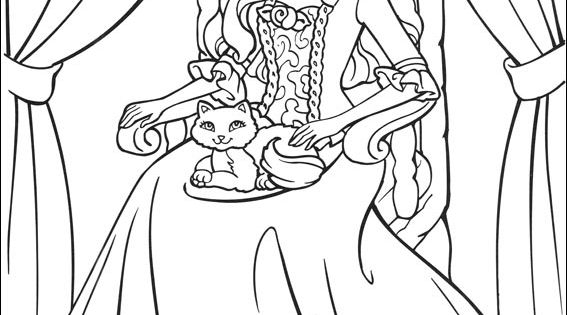 Barbie As The Princess And The Pauper Coloring Picture The Princess And The Popper Printable