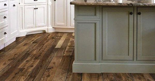 Picture Of White Rustic Kitchen Design Dark Barnwood Floor And Large Center Island Kitchen