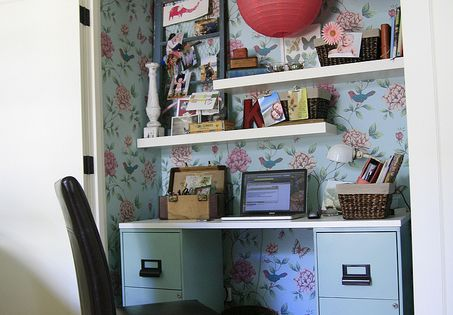 Use a closet as a home office space