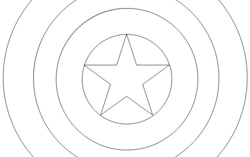 Captain america logo coloring page coloring pages for Captain america shield coloring page
