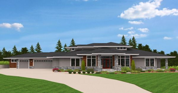 Plan #M-4820 Stafford View from Mark Stewart Home Design. Spacious ...