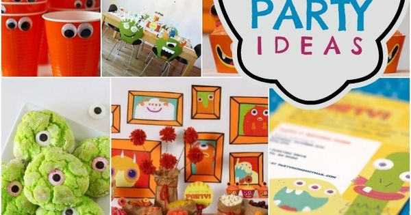 26 Cute Monster Party Ideas Your Guests Will Adore - Spaceships and