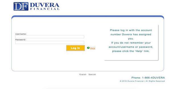 Duvera Financial Bill Pay Login To Duvera Com Billing Paying Bills Financial Bills