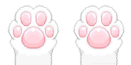 Kawaii Pixel Cat Paws Kitten Cartoon Cat Gif Kawaii
