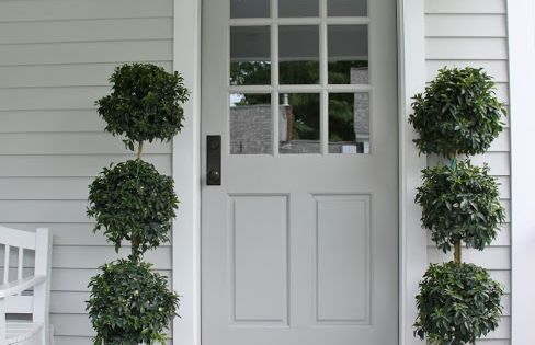 The Paper Mulberry Exterior Paint Shades Door Pale Grey Gray With White Trim House Home