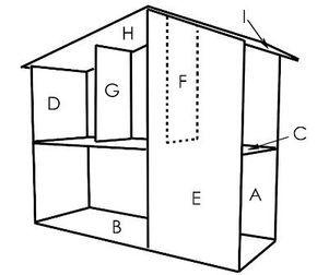 Como Hacer Una Casa De Muñecas Con Moldes 3 Como Hacer Casas Casa De Muñecas Ideas De Casa De Muñecas