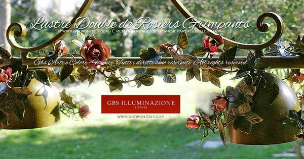 Lustre double de rosiers grimpants gbs illuminazione for Lustre double suspension