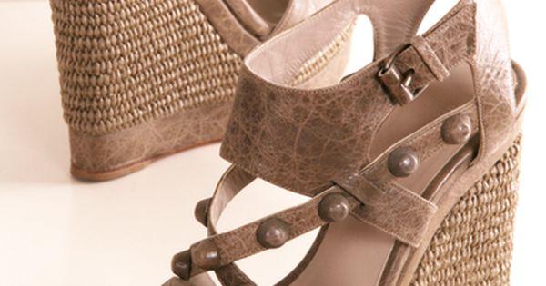 Wedge sandals - photo
