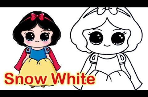 how to draw disney princess snow white cute and easy - Fun Easy Drawings For Kids