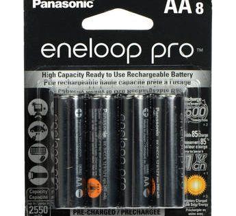 Panasonic Eneloop Pro Aa Rechargeable Nimh Batteries 1 2v 2550mah 8 Pack Panasonic Car Battery Rechargeable Batteries