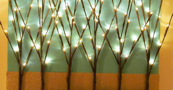 Lighted branch project. take pic of one at Tipico - similar idea,