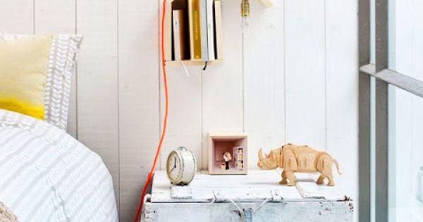 Tables de chevet 30 id es d co tables - Comment fabriquer une lampe de chevet ...