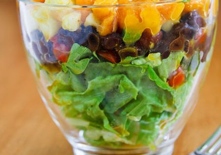 Eat More Beans: 14 Protein-Rich Black Bean Recipes: Layered Salad With Black