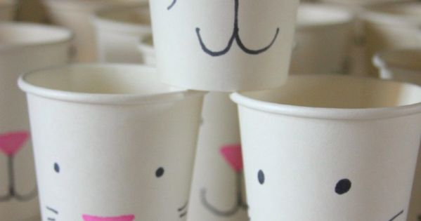 DIY Bunny cups for Easter! So adorable and fun for kids to