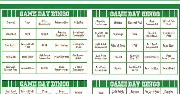 Super bowl party games, Bingo and Bingo cards on Pinterest