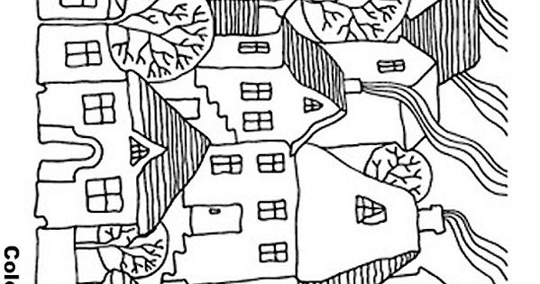house coloring page 12