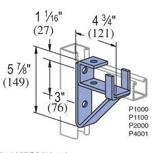 P1075 Gr Unistrut Bracket Bracket Storage Architecture Concept Diagram