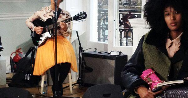 Julia Sarr-Jamois Lianne La Havas at London Fashion Weeks Moschino Cheap Chic.