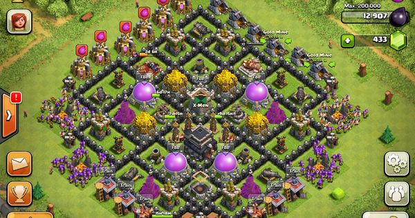 town hall level 9 farming bases | Clash of Clans Town Hall ...