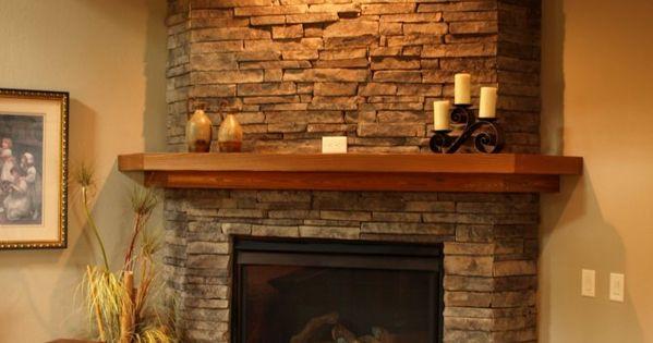 Beautiful stone fireplaces beautiful stone fireplace by - Chimenea rustica de ladrillo ...