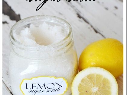 Homemade Lemon Sugar Foot Scrub Recipe