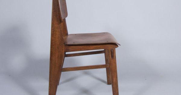 Chaise en bois jean prouv 1942 produced by - Chaise jean prouve prix ...