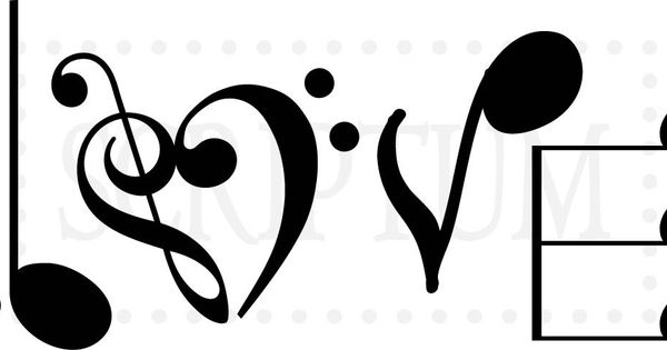 love music notes coloring pages | Love Spelled In Music Notes Vinyl Wall Decal | tattoo ...
