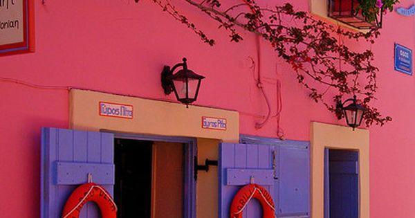 Matsouki, Kefalonia, Greece Pink house overload