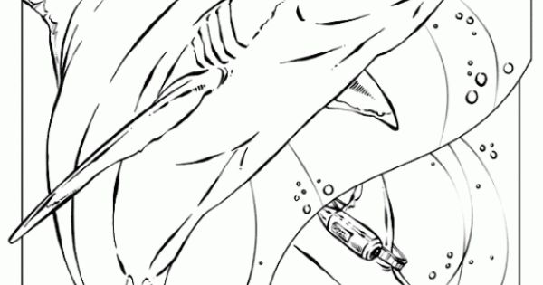realistic shark coloring pages - photo#16