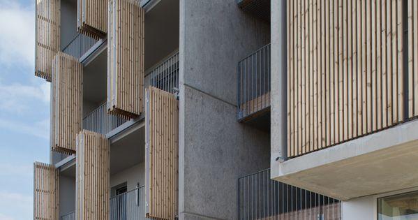 gallery of social housing shops in mouans sartoux comte et vollenweider architectes 33. Black Bedroom Furniture Sets. Home Design Ideas