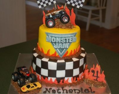 monster truck birthday cake truck cake by tabco on cakecentral 6008