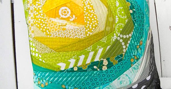 Handmade for Newtown Auction Pillow Quilt as you go- excellent tutorial on
