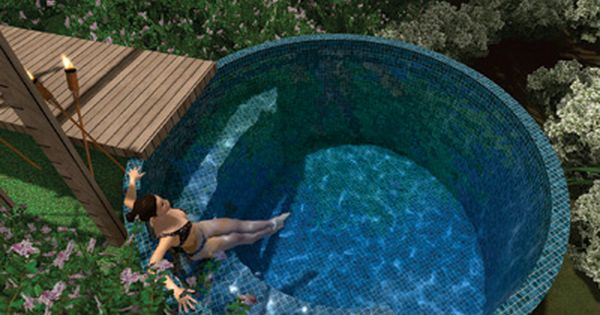 Pool tank for the home pinterest plunge pool for Concrete stock tank swimming pool