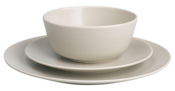 dinera service de vaisselle 18 pi ces beige cuisine beige chambres d 39 h tes et couverts. Black Bedroom Furniture Sets. Home Design Ideas